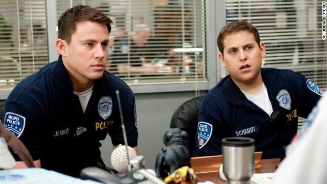 "Channing Tatum (L) and Jonah Hill star in ""21 Jump Street."""