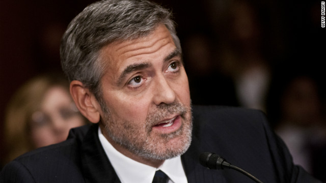 George Clooney testified before the Senate Foreign Relations Committee on Wednesday.