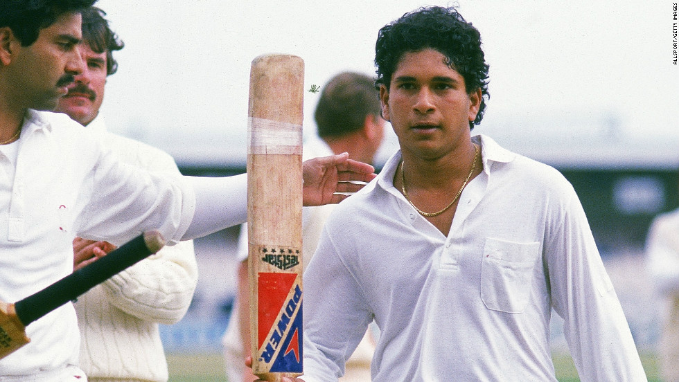 Tendulkar scored his first international century in the five-day format the following year on India's tour of England, hitting 119 not out in the second Test at Old Trafford.