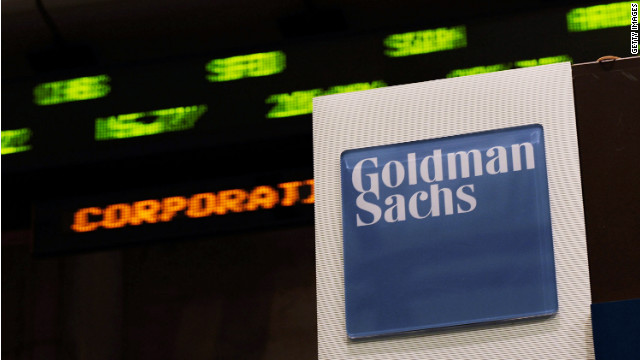 NEW YORK - APRIL 16: Stock prices whiz by on a ticker near the Goldman Sachs booth on the floor of the New York Stock Exchange April 16, 2010 in New York, New York. Goldman Sachs was charged with fraud by the Securities and Exchange Commission over its marketing of a subprime mortgage product, sending its stock price sharply lower. (Photo by Chris Hondros/Getty Images)