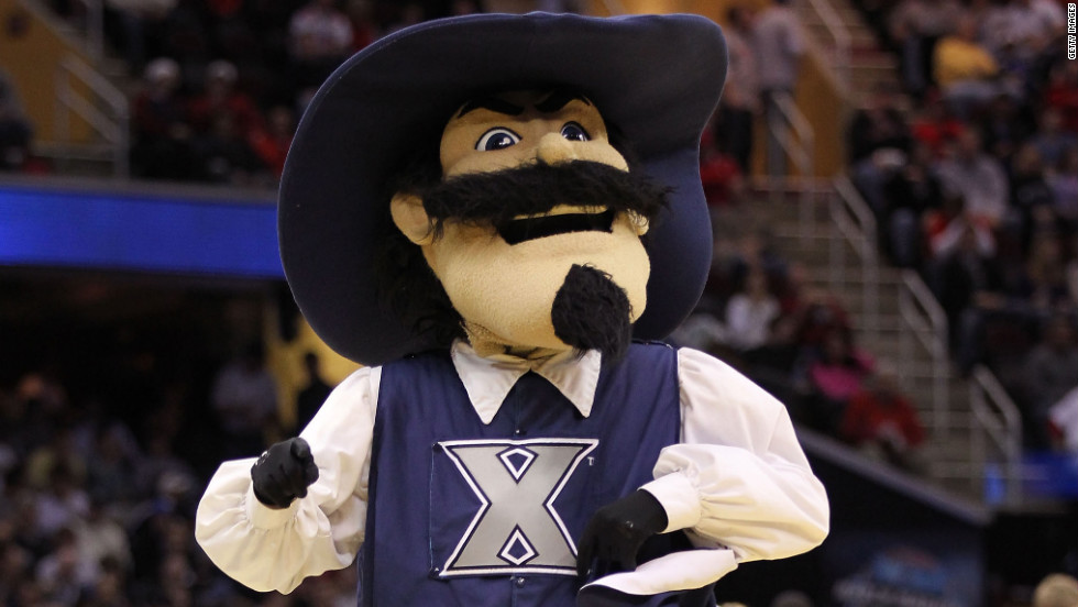 The Xavier Musketeers mascot is the dashing D'Artagnan.