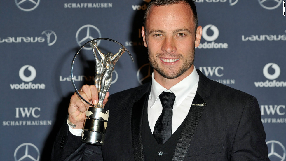 Pistorius was honored at the 2012 Laureus World Sport Awards for his achievements and services to disabled sport.
