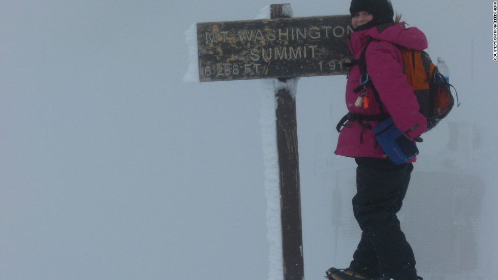 Alexandra Herr on the summit of Mt. Washington.  March 10, 2012