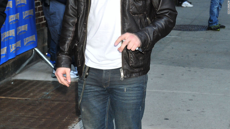 "Josh Hutcherson visits ""The Late Show with David Letterman"" in New York City."