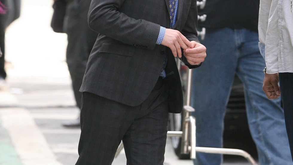 "Ed Westwick films a scene for ""Gossip Girl"" in New York City."