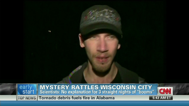 Mystery booms puzzle Wisconsin residents