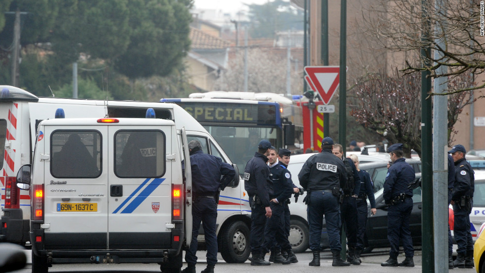 Around 300 police officers surrounded the apartment in Toulouse on Wednesday March 21, during an operation to arrest Mohammed Merah. Authorities say he was a self-styled al Qaeda jihadist.