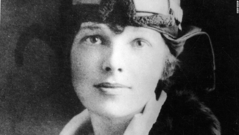 Amelia Earhart in 1928.