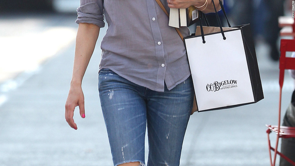 Keri Russell goes shopping in New York City.