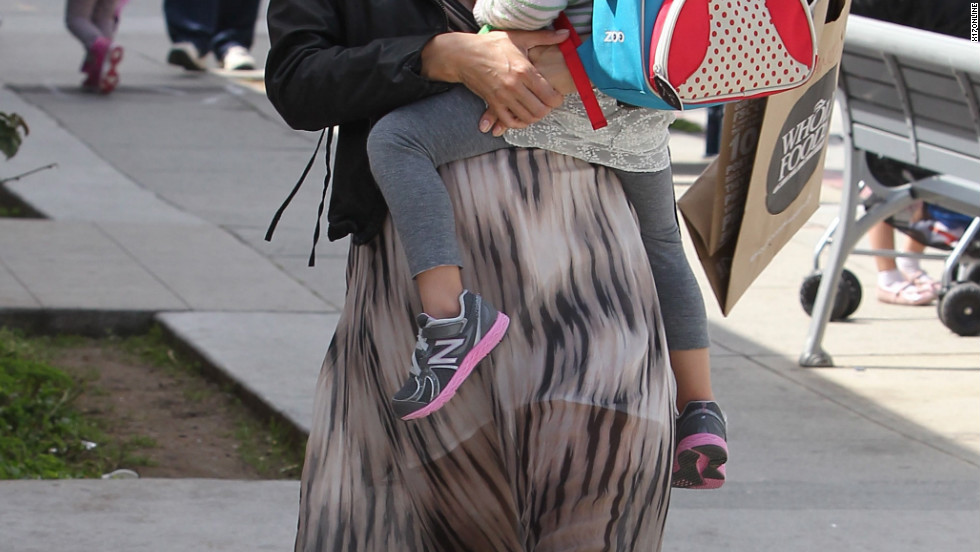 Alessandra Ambrosio roams around Santa Monica with her daughter Anja.