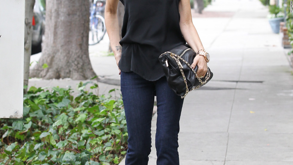 Victoria Beckham goes shopping in West Hollywood.