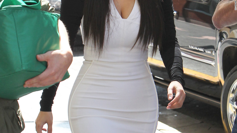 Kim Kardashian attends a meeting in Hollywood.