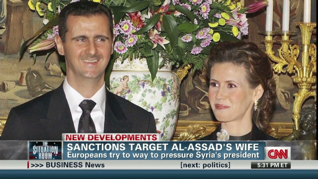 Sanctions target al-Assad's wife