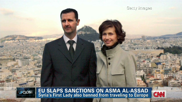 Syria's first lady faces sanctions