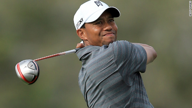 Tiger Woods struck the ball impressively from tee to green during his third round in Florida.