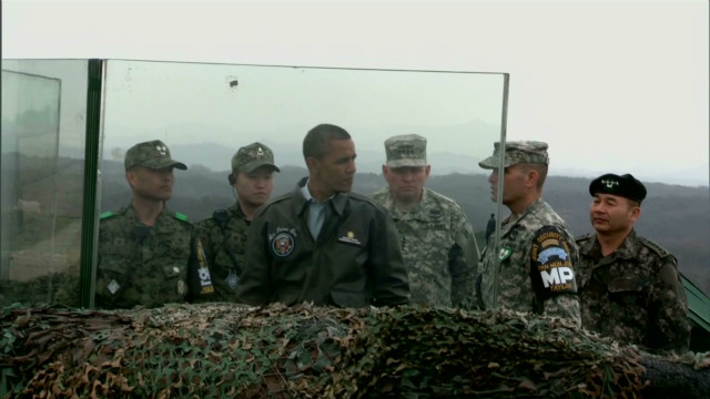 President Obama visits Korean DMZ