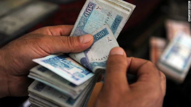 Billions in cash leaving Afghanistan