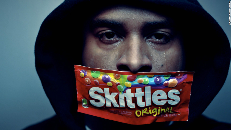 "New York photographer Darrel Dawkins wants to <a href=""http://ireport.cnn.com/docs/DOC-766792"">send a message</a> about the Trayvon Martin story, as do many iReporters who shared self-portraits in support of the movement. ""We shouldn't stay silent. We should basically talk about those who are out there discriminating and those who are racist."""
