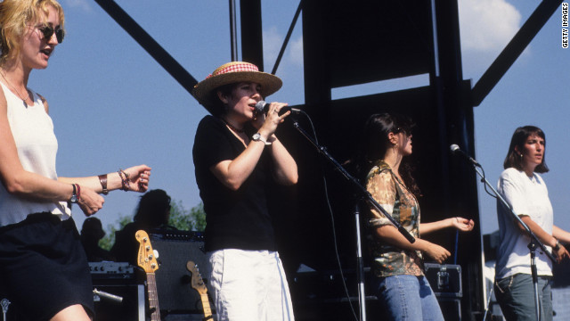 Luscious Jackson, shown here performing in Chicago, Illinois on July 15, 1994, are back with new music.