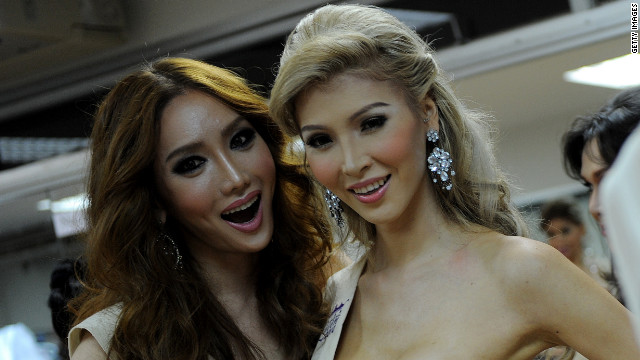 Miss Universe competitor Jenna Talackova (right), shown here in 2010, underwent sexual reassignment surgery four years ago.