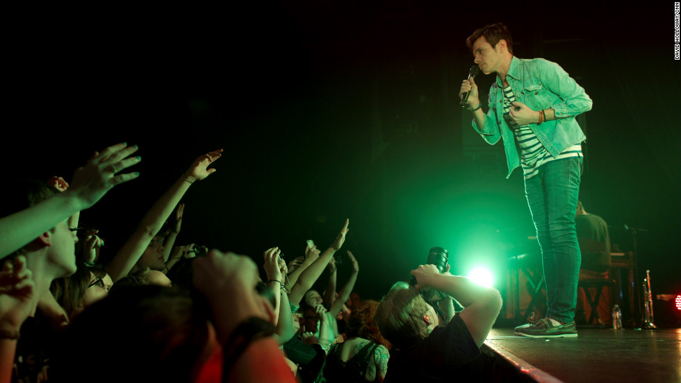 Singer Nate Ruess leans over the crowd at Center Stage in Atlanta. Ruess was the former singer and co-founder of The Format.