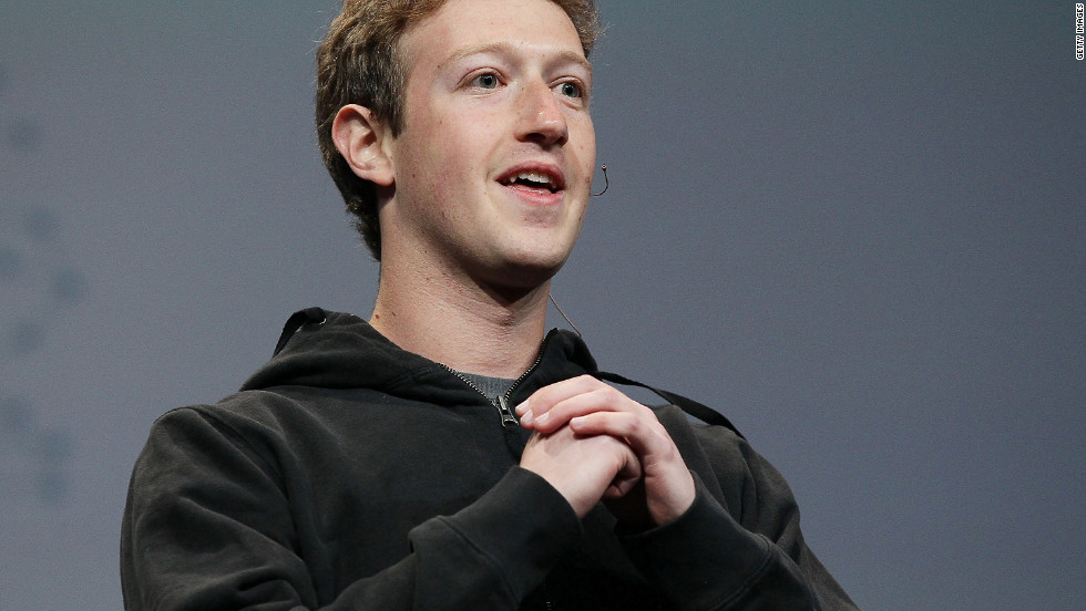 Facebook founder Mark Zuckerberg wears a hoodie during a keynote address at a 2010 conference in San Francisco. Protesters nationwide are wearing hoodies in support of Trayvon Martin, 17, who was wearing one when he was shot dead while walking in a gated community in Sanford, Florida.