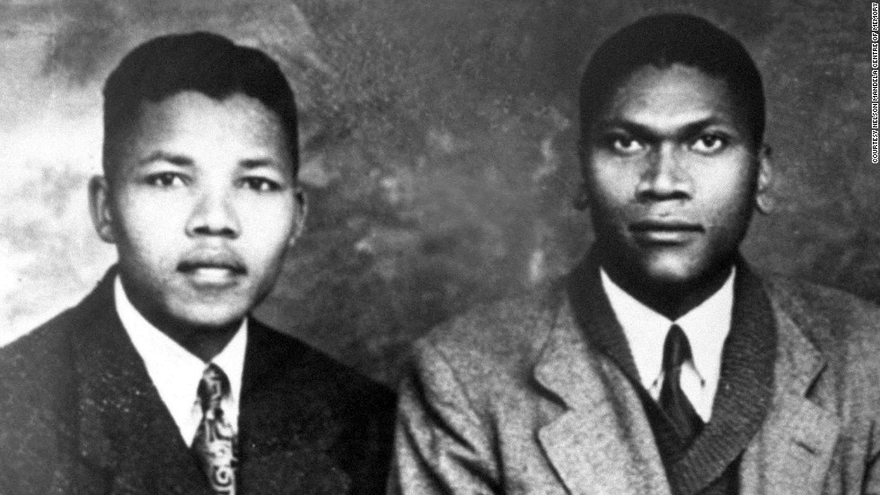 A portrait with his cousin Bikitsha, dating from around 1941, when Mandela would have been about 23.