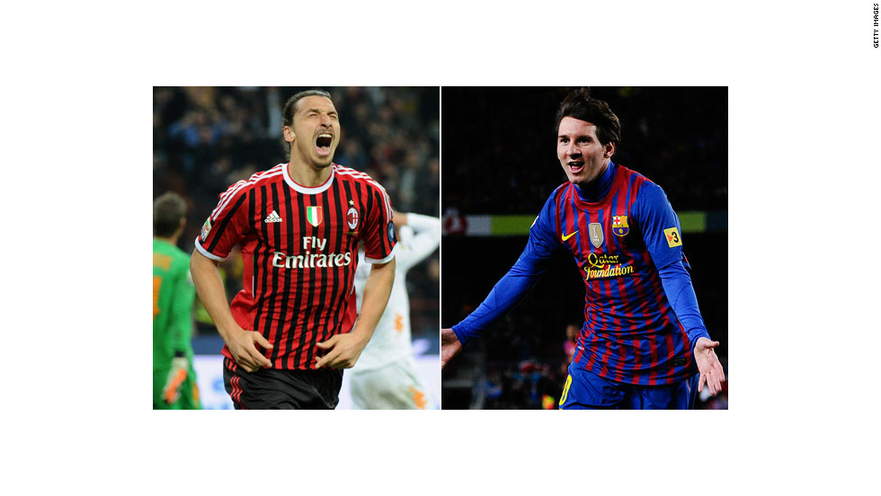 Reigning champions Barcelona take on seven-time winner AC Milan on Wednesday. The match pits three-time World Player of the Year Lionel Messi, the leading scorer in this year's competition, against the talented Zlatan Ibrahimovic -- who left Barca for Milan in 2011.