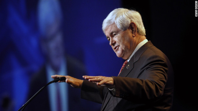 GOP presidential candidate Newt Gingrich campaigned in Pennsylvania on March 24.