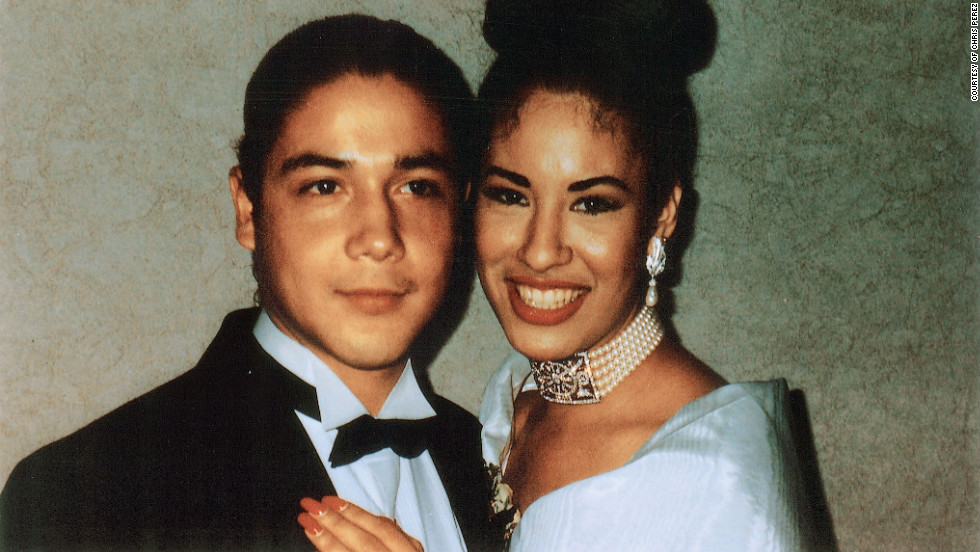 "Selena and her husband Chris at a wedding. ""Selena loved as hard as she lived.  We loved her in return—her family, her friends, her fans, and me, her husband, who felt like the luckiest man alive every time Selena said my name."" --Chris Perez"