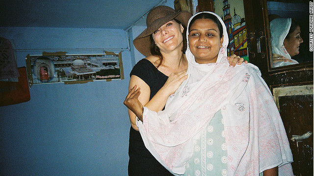 Adrienne Arieff and her surrogate, Vaina, who carried and gave birth to Arieff's twin daughters in India in 2008.