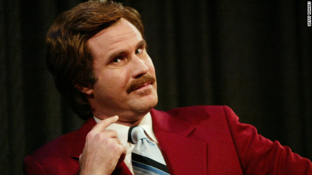Will Ferrell as Ron Burgundy participates in Q&A after a special screening of the film 'Anchorman The Legend of Ron Burgundy' in 2004