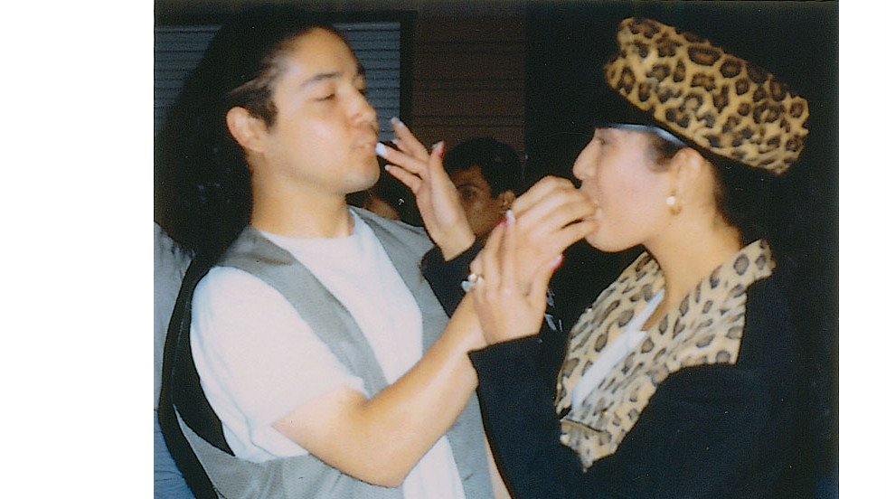 "Selena and her husband Chris after one year of marriage. ""It was one of the happiest times in my life: I was making music, Selena and I were married and still madly in love, and the band was posed to enter the international market."" -- excerpt from ""To Selena with Love,"" by Chris Perez"