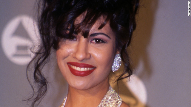Selena is shown here at the Grammy Awards in 1994.