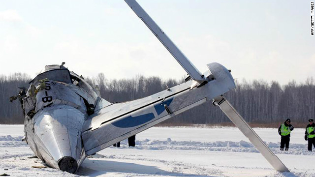 Siberia plane crash site