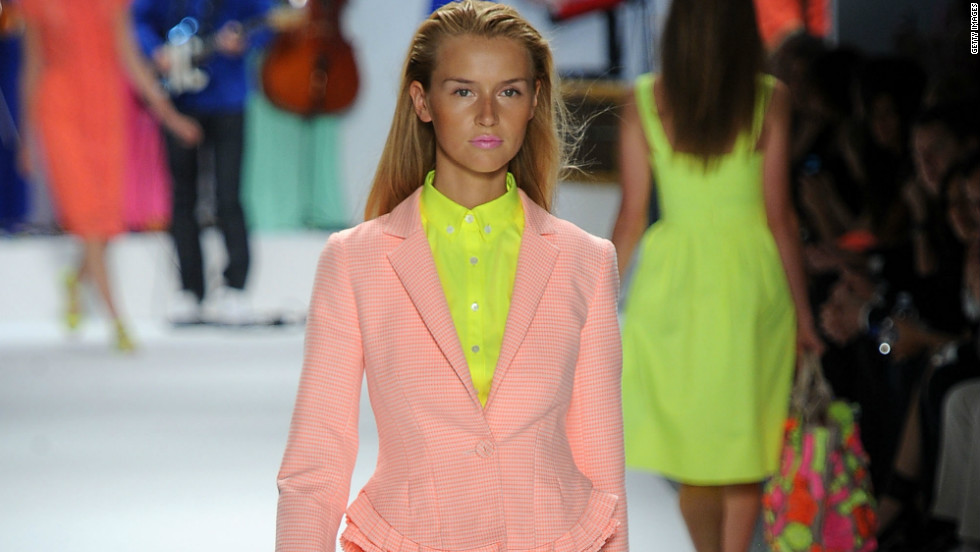 Designer Nanette Lepore lit up the runway with her vivid collection for spring and summer 2012. Perennial spring pastels were paired well with bright 'hyper-Popsicle' tones.