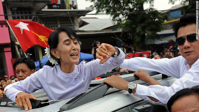 Suu Kyi victory in Myanmar celebrated