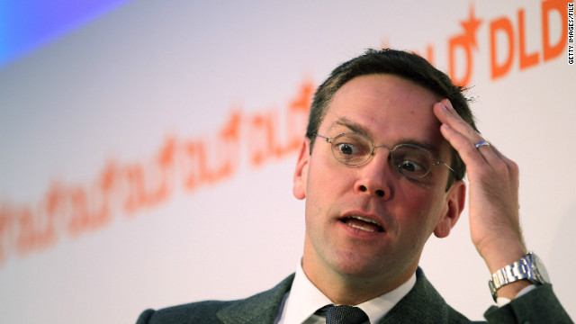 James Murdoch looks on during the Digital Life Design (DLD) conference on January 25, 2011.
