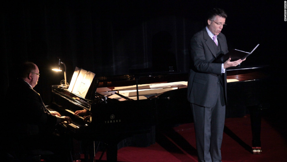 "Thomas Hampson, otherwise known as ""America's Baritone,"" is seen here performing at the Waldolf Astoria in New York City. Having sung in more than 70 opera roles over a career that began in the early 1980s, Hampson is today regarded as one of the world's foremost and prodigious operatic talents."