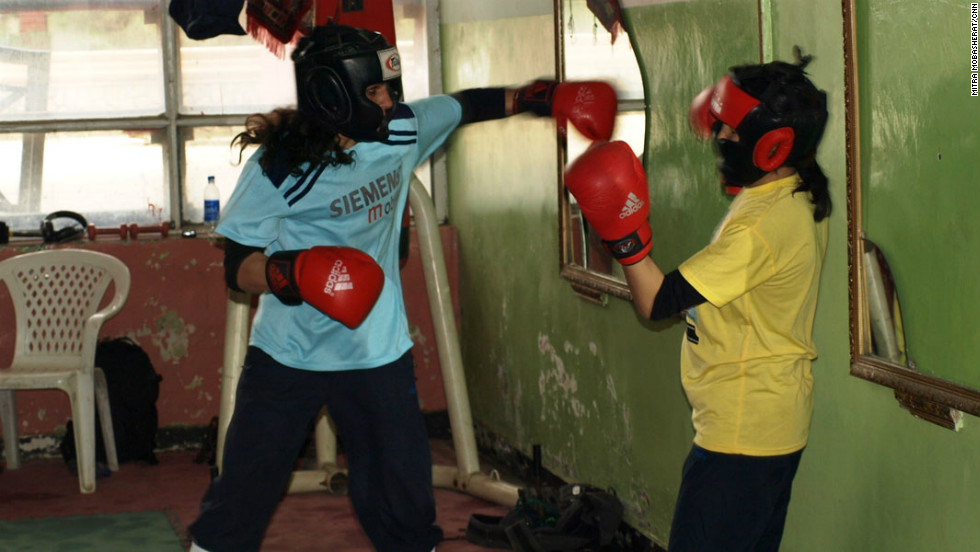 The boxing gym is a crumbling room inside Kabul's Ghazni stadium -- a venue for public executions under the Taliban.