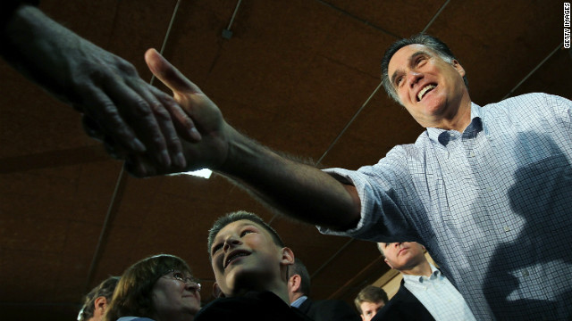 GOP presidential frontrunner Mitt Romney campaigned in Green Bay, Wisconsin on Monday.