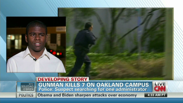Oikos shooting witness discusses rampage