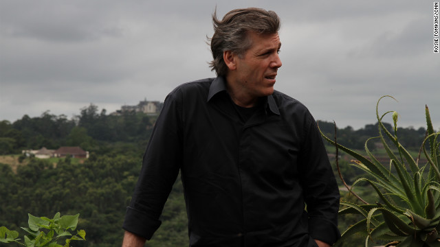 Thomas Hampson pictured on the outskirts of Durban, with the Valley of a Thousand Hills to his back