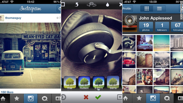 Mobile photo-sharing app Instagram has filters that can give your smartphone pictures a vintage look.