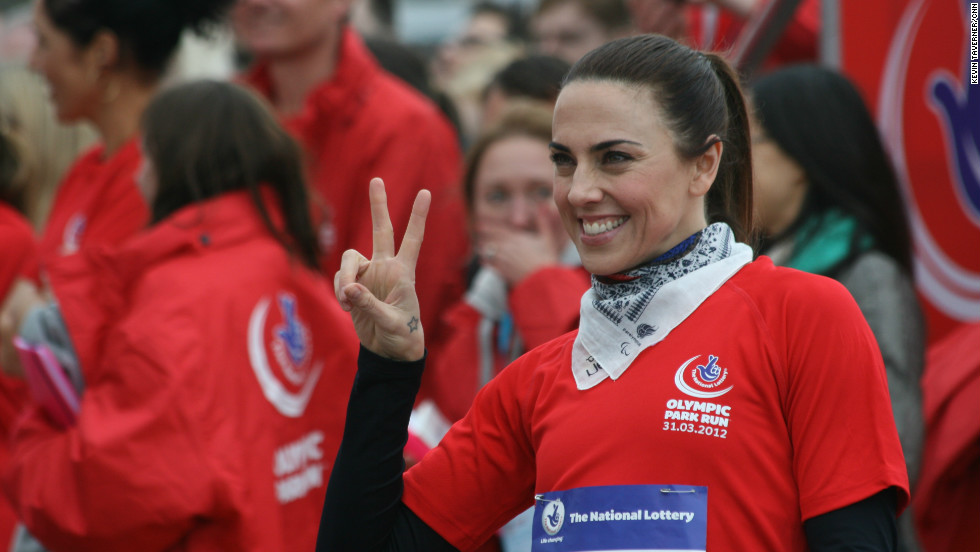 Former Spice Girl Mel C was one of several celebrity runners who joined in with the run.