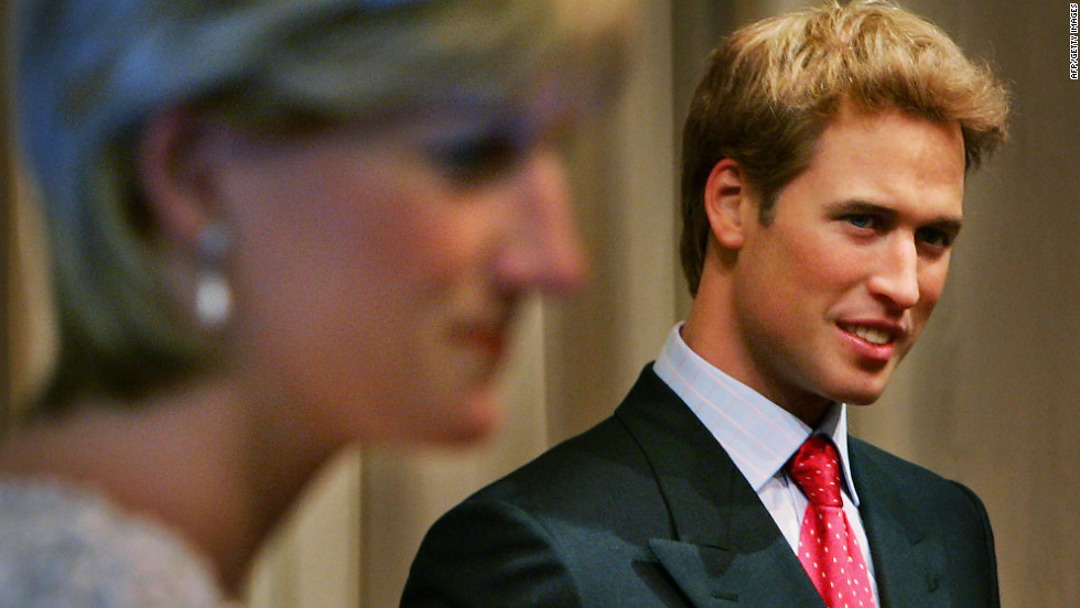 "Prince William's waxwork replaces a ""younger"" version, which was unveiled alongside one of his mother Diana, Princess of Wales, at the attraction in August 2005."