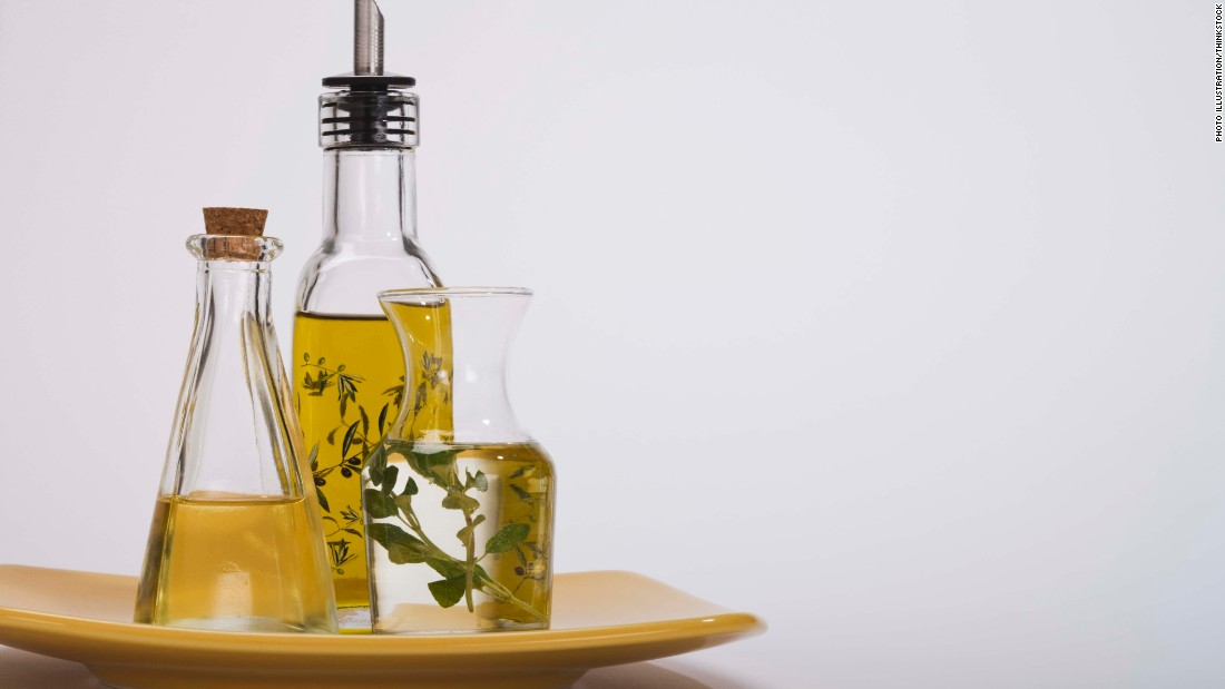 "Olive oil and other healthy fats can keep you from feeling hungry.  The Mediterranean diet, which is rich in olive oil, <a href=""http://www.ncbi.nlm.nih.gov/pubmed/21443484"" target=""_blank"">has shown several positive health results</a>, including keeping weight down, according to Zinczenko."