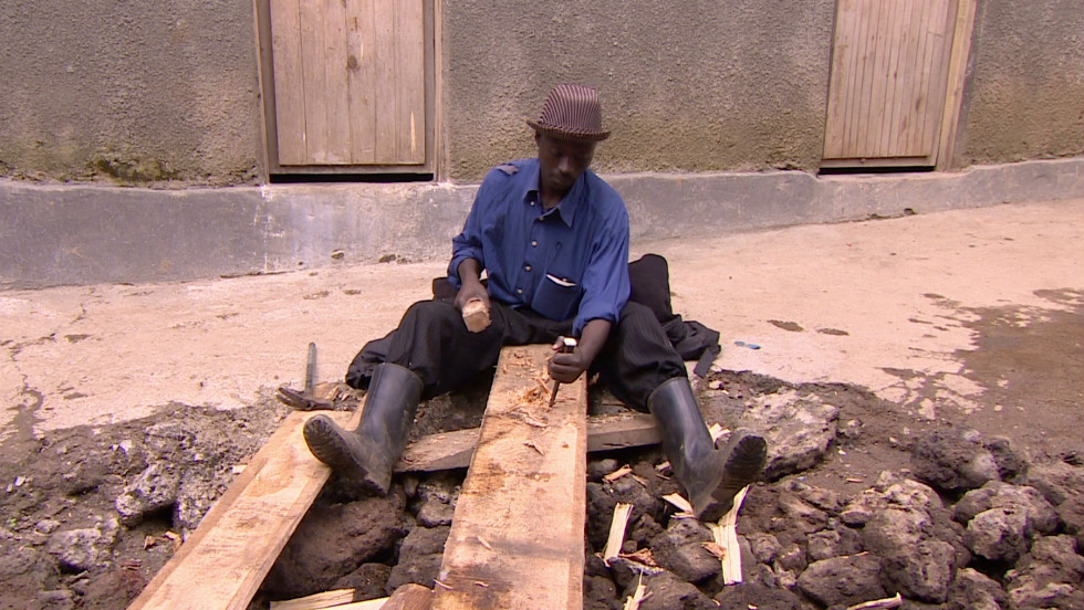 Francois Bizimana is one of Musanze's best makers of wooden bikes. He was once hospitalized after an accident on one.