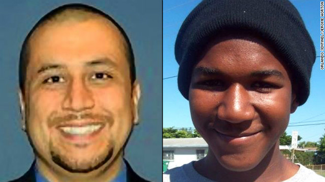 split of george zimmerman and trayvon martin