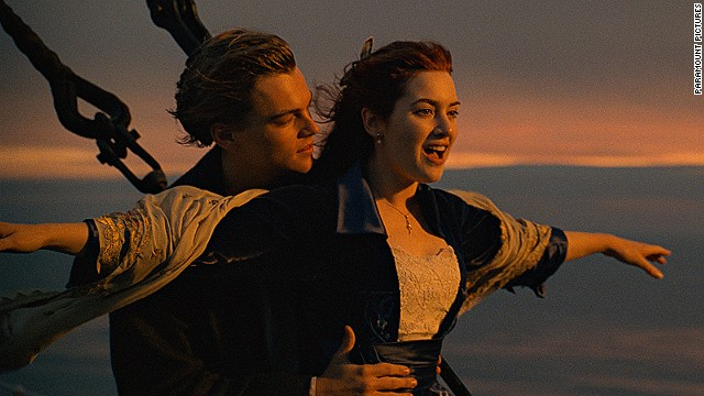 "Leonardo DiCaprio and Kate Winslet, shown here in the iconic scene from ""Titanic."""